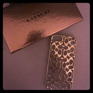 Coach gold logo iPhone 5/5s case